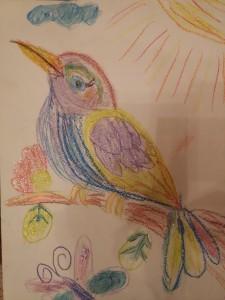 """Вельська Софія, 6 років """"Птах на гілочці"""""""